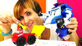 Машины Игрушки: Робокар Поли и Грузовичок Чак