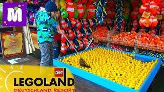 Леголенд - парк аттракционов в Германии. Макс выиграл игрушки в воде