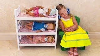 Диана как МАМА и Куклы пупсики Беби Бон