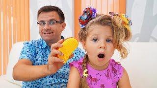 Диана и Папа одни дома Видео для детей