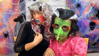 ЧЕЛЛЕНДЖ Грим НА Хеллоуин 2018 КТО СТРАШНЕЕ Обмани или Проиграешь - Вики Шоу