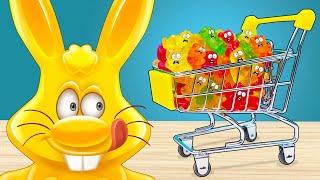 Писто-робот желейного зайца Харитона и покупка желейных медведей