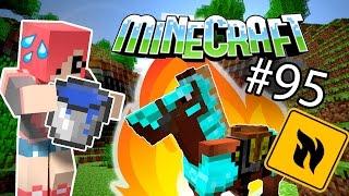 Minecraft - ШОК ЛОШАДЬ В ОГНЕ (Серия 95)