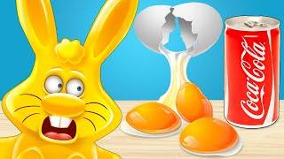 Что будет если залить яйца разными жидкостями Эксперименты