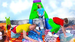 Пол это Лава Катя и Макс устроили челлендж для папы