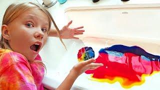 Мы уже ВЗРОСЛЫЕ -Вызов. Дети сами сделали ТАЙ ДАЙ футболки!