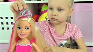 Большая кукла БАРБИ Алиса и кошечка Мася открывают большую куклу