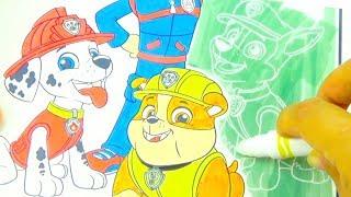 Щенячии Патруль раскраска для детеи  Игрушкин ТВ