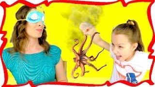 ПОНЮХАЙ или СЪЕШЬ Челлендж с Закрытыми Глазами Смешное Видео для Детей