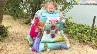 Эльза и волшебная Игровая палатка Холодное сердце Мультики для девочек про принцесс Новые серии