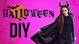 Бюджетный образ на Хэллоуин DIY рога и посох. Макияж Малефисенты Afinka