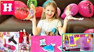 Барби Дизайнерская мастерская. Barbie Spin Art Designer. Barbie Airbrush Designer Toy Tips.
